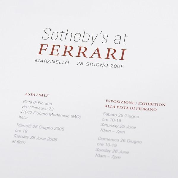 フェラーリ Ferrari-Sotheby'sオフィシャルオークション2005カタログ+パスセット|itazatsu|04
