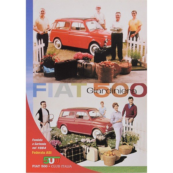 フィアット FIAT 500 CLUB ITALIA ポストカード(4 Giardiniera)|itazatsu