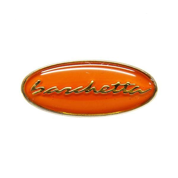 フィアット純正 barchettaオーバル型ロゴピンバッジ(オレンジ)|itazatsu