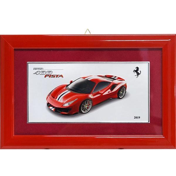 フェラーリ純正 488 Pista額装プレート/Ferrari 2019年度退職者記念用|itazatsu|02