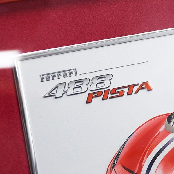 フェラーリ純正 488 Pista額装プレート/Ferrari 2019年度退職者記念用|itazatsu|03