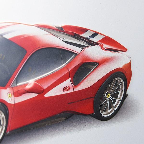 フェラーリ純正 488 Pista額装プレート/Ferrari 2019年度退職者記念用|itazatsu|05