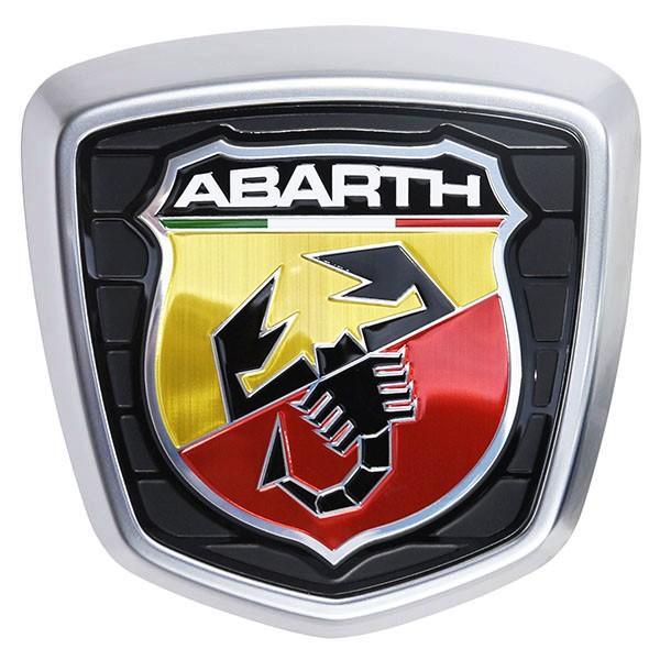 アバルト純正 500ABARTH用リアエンブレム(サテンシルバーフレーム)|itazatsu