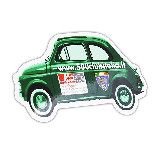 フィアット FIAT 500 CLUB ITALIAオフィシャルステッカー(車型/Type C) itazatsu 02
