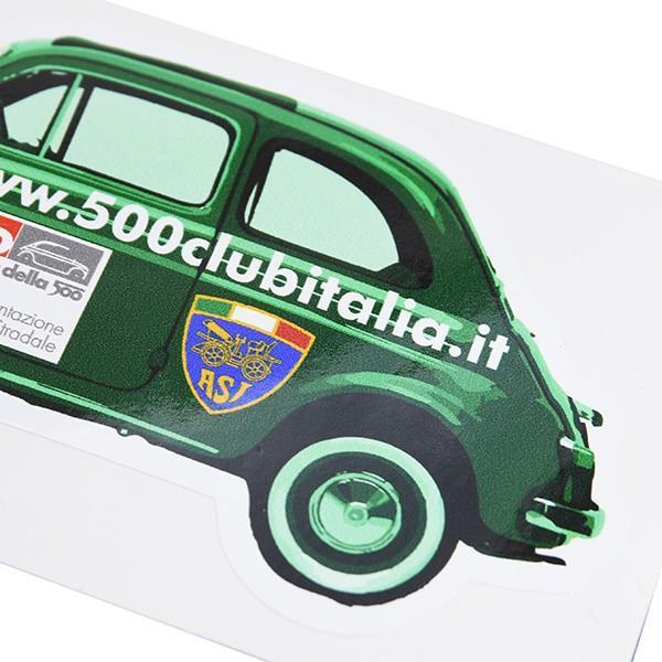 フィアット FIAT 500 CLUB ITALIAオフィシャルステッカー(車型/Type C) itazatsu 04