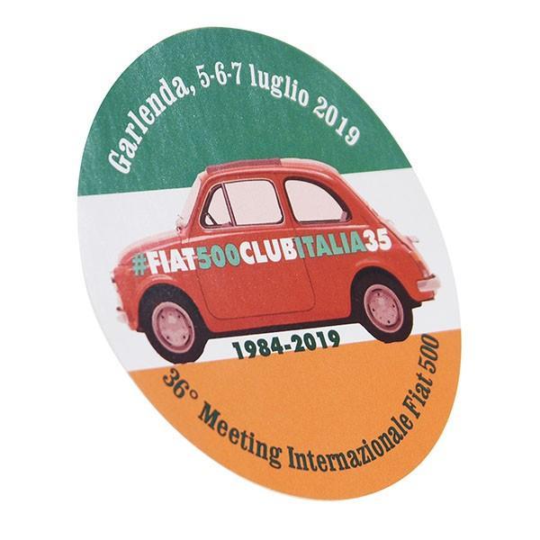 フィアット FIAT 500 CLUB ITALIA 2019ミーティングステッカー|itazatsu|02