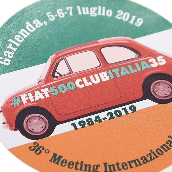フィアット FIAT 500 CLUB ITALIA 2019ミーティングステッカー|itazatsu|03