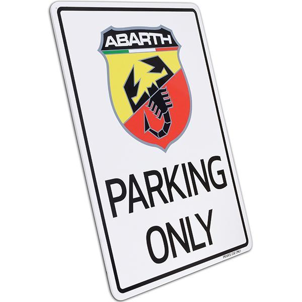 アバルト Parking Onlyボード itazatsu 02