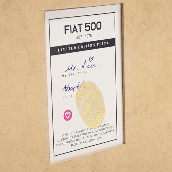 フィアット FIAT Nuova 500イラストレーションby Mr.Vin -ABARTH- (Large) itazatsu 07