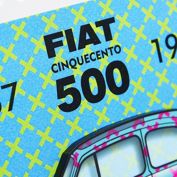 フィアット FIAT Nuova 500切手型イラストレーションby Mr.Vin -TRIS- (Small)|itazatsu|06