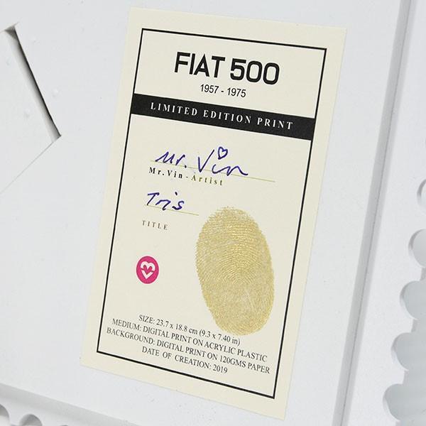 フィアット FIAT Nuova 500切手型イラストレーションby Mr.Vin -TRIS- (Small)|itazatsu|08