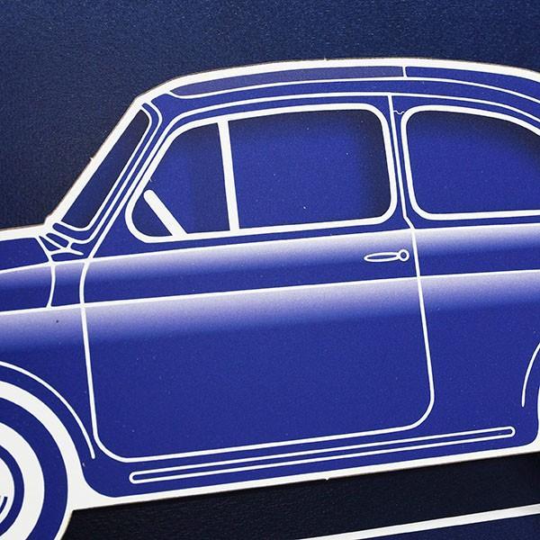 フィアット FIAT Nuova 500切手型イラストレーションby Mr.Vin -BLUEPRINT- (Large) itazatsu 06
