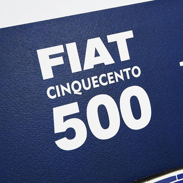 フィアット FIAT Nuova 500切手型イラストレーションby Mr.Vin -BLUEPRINT- (Large) itazatsu 07