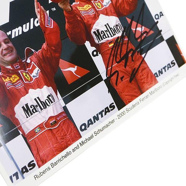 スクーデリア フェラーリ 2000 M.シューマッハ&R.バリチェロMarlboroオフィシャルフォト-M.シューマッハ直筆サイン入り-|itazatsu|06