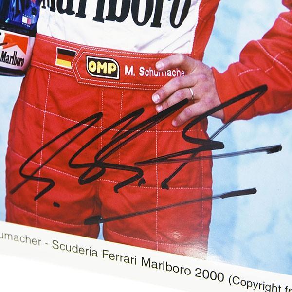 スクーデリア フェラーリ 2000  M.シューマッハMarlboroオフィシャルフォト-M.シューマッハ直筆サイン入り-|itazatsu|05