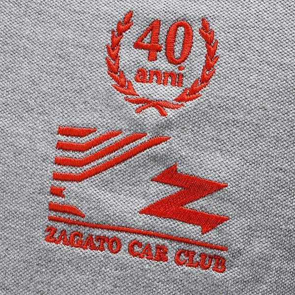 Zagato Car Clubポロシャツ(グレー)|itazatsu|06