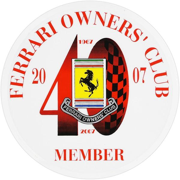 Ferrari Owners Club UK 40周年メモリアルシート(裏貼りタイプ)|itazatsu