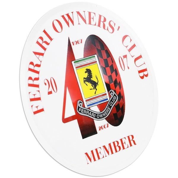 Ferrari Owners Club UK 40周年メモリアルシート(裏貼りタイプ)|itazatsu|02