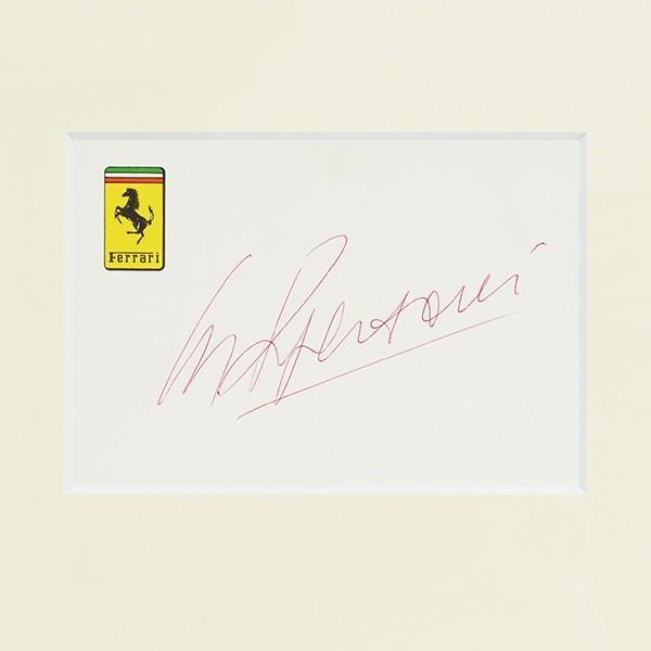 スクーデリア フェラーリ C.レガツォーニ直筆サイン入り額装カードセット itazatsu 06