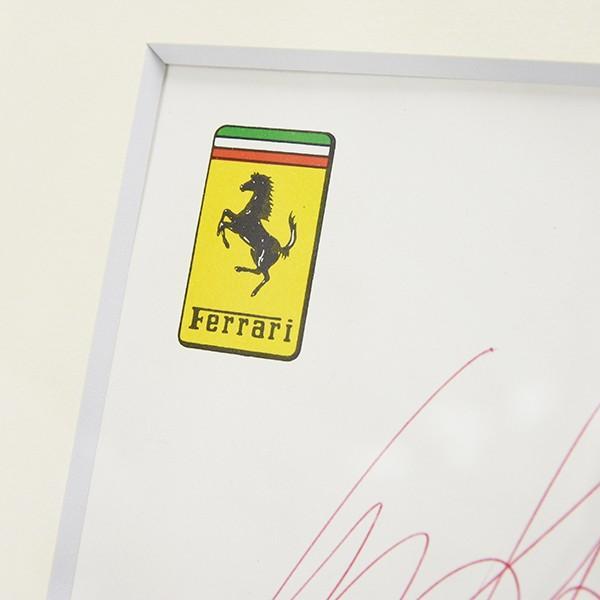スクーデリア フェラーリ C.レガツォーニ直筆サイン入り額装カードセット itazatsu 07