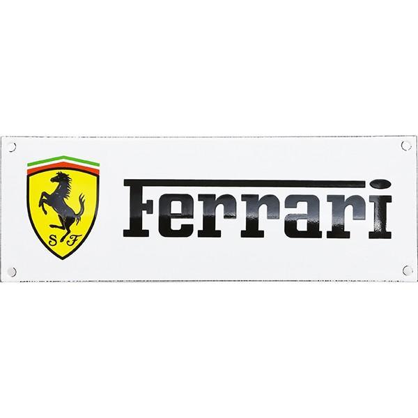 フェラーリ ロゴホーローサインボード|itazatsu