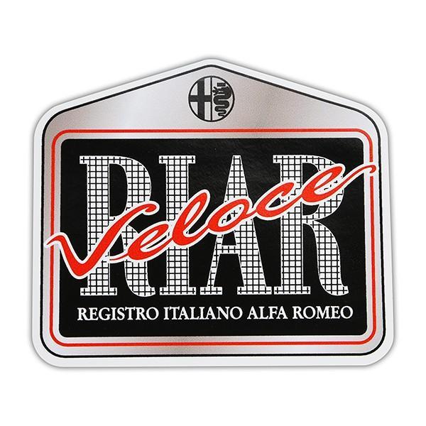 Registro Italiano Alfa Romeo Veloceステッカー(Medium) itazatsu