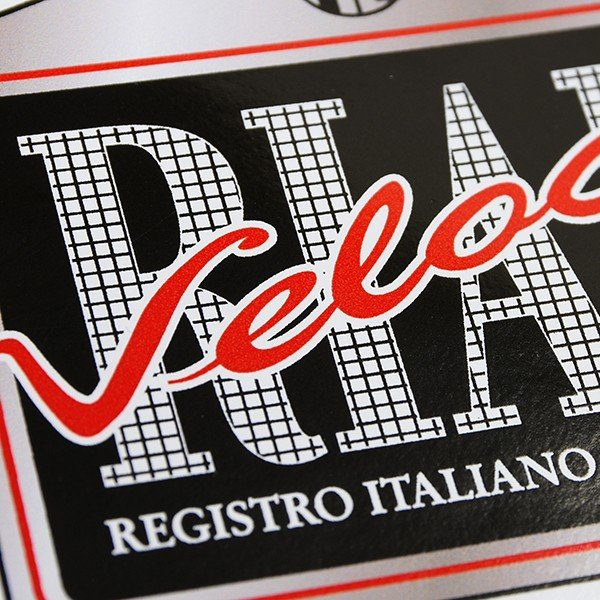 Registro Italiano Alfa Romeo Veloceステッカー(Medium) itazatsu 03