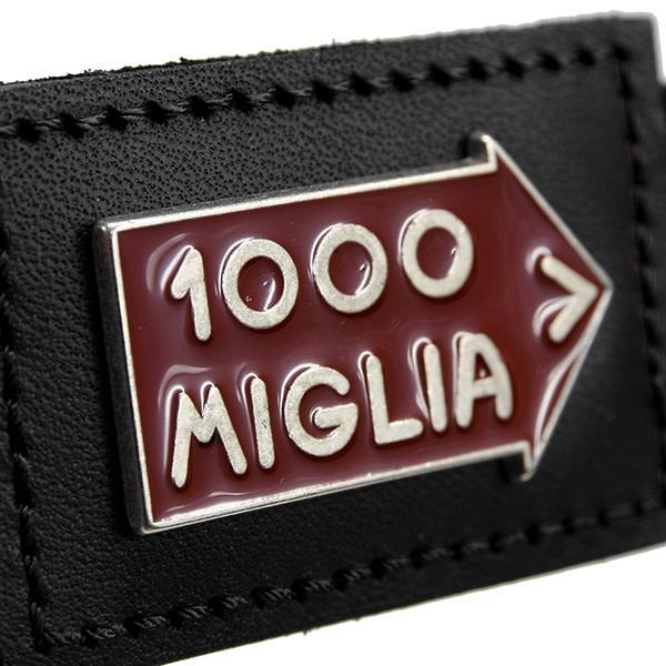 1000 MIGLIAオフィシャルレザーキーリング(ブラック)|itazatsu|03