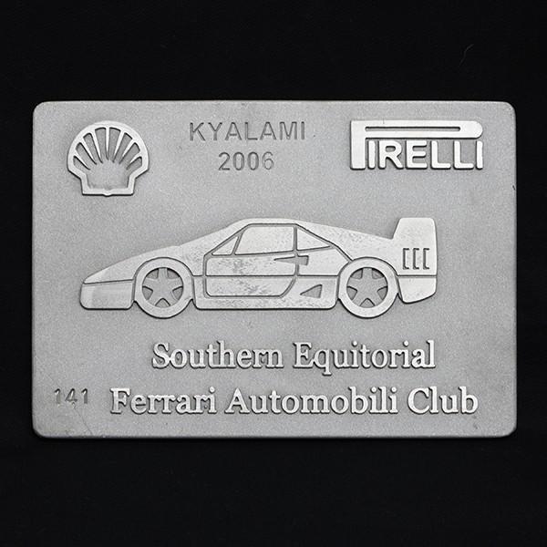 フェラーリ Ferrari AUTOMOBILI CLUB Southern Equitorialアルミプレート itazatsu