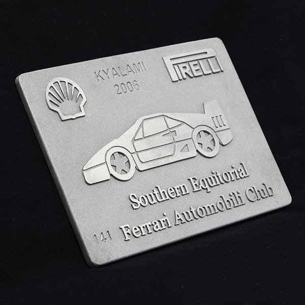 フェラーリ Ferrari AUTOMOBILI CLUB Southern Equitorialアルミプレート itazatsu 02