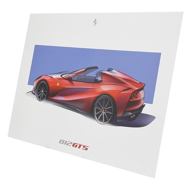 フェラーリ純正 F8 spider&812GTS VIPゲスト用リトグラフ|itazatsu|04