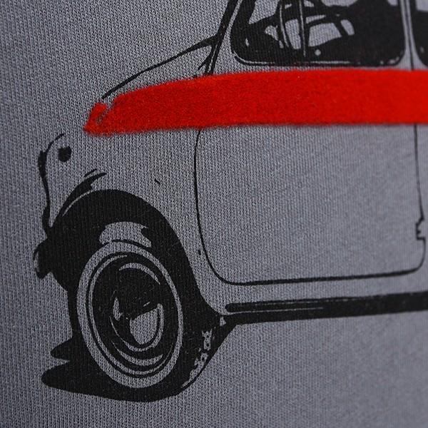 フィアット純正 Nuova 500 Tシャツ(グレー)|itazatsu|04