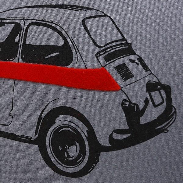 フィアット純正 Nuova 500 Tシャツ(グレー)|itazatsu|05