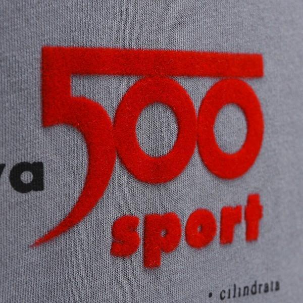 フィアット純正 Nuova 500 Tシャツ(グレー)|itazatsu|06