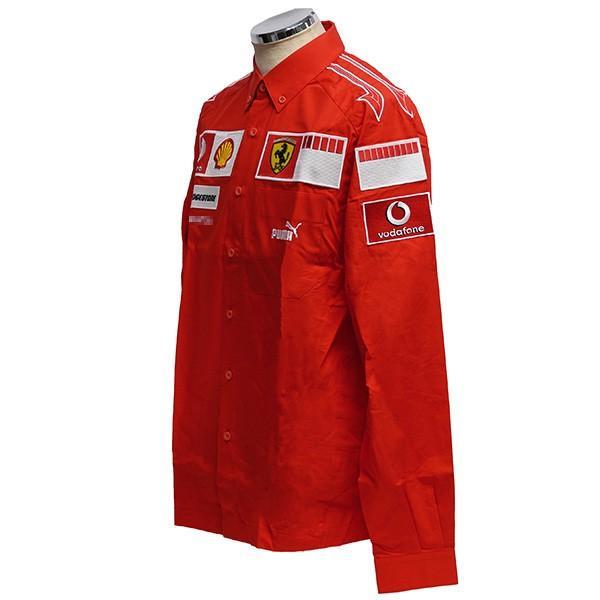 スクーデリア フェラーリ 2006ティームスタッフ用B.D.シャツ(長袖)|itazatsu|02