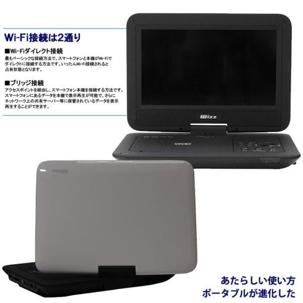 10.1インチ ポータブルDVDプレーヤー Wi-Fi キャスト機能搭載 WDH-104 WIZZ|item-japan|02