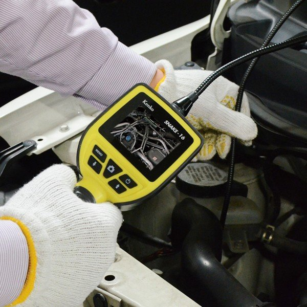 LEDライト付き防水スネイクカメラ SNAKE-16 録画 撮影 防塵 防水 水回り エンジン下|item-japan|03