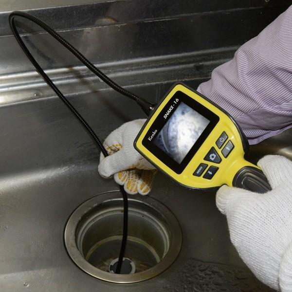 LEDライト付き防水スネイクカメラ SNAKE-16 録画 撮影 防塵 防水 水回り エンジン下|item-japan|04