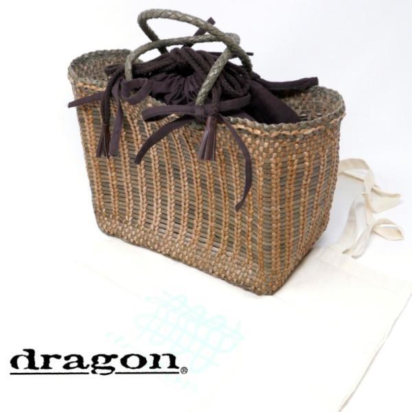 dragon 8853CANNAGE LIZARD SMALL ドラゴン 革メッシュバッグ ナチュラル/ミリタリー
