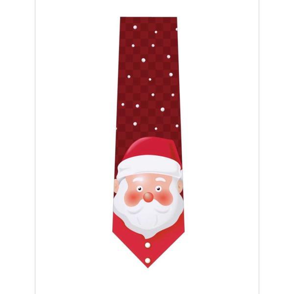 サンタさんの顔がドアップネクタイ|itempost