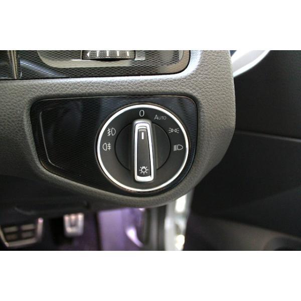 VW アルミ ヘッドライトスイッチリング|itempost|02