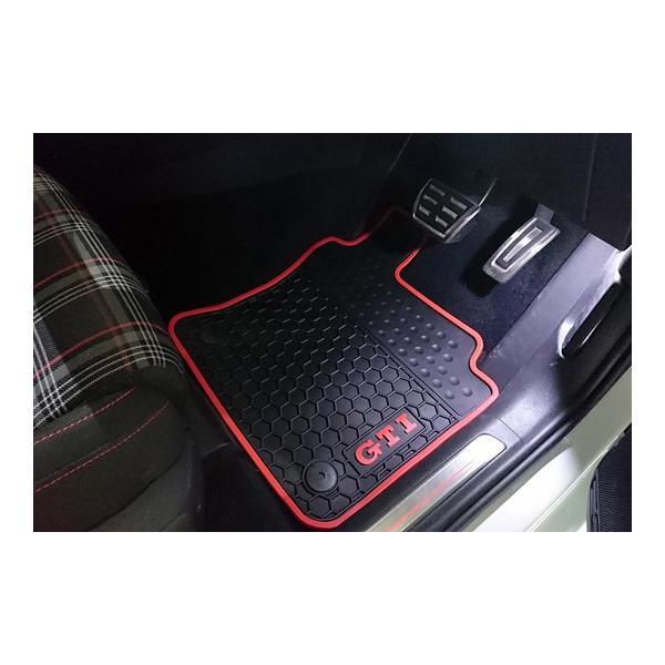 GOLF7 ラバーマット 5pcセット(レッドパイプ・GTIロゴ)|itempost|04
