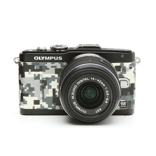 オリンパスE-PL5&E-PL6用張り革キット 8500 デジタル迷彩|itempost|03