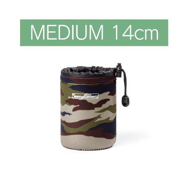 イージーカバー ネオプレーン レンズポーチ MEDIUMサイズ 14cm 【カモフラージュ】|itempost