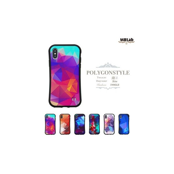 iPhone ケース かっこいい 【 ポリゴン 耐衝撃 】iPhoneXS Max / iPhoneXR / iPhoneXS / iPhoneX / iPhone8 / iPhone7|itempost