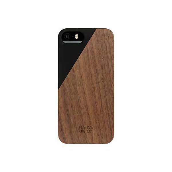 Native Union  Clic Wooden for iPhone 5/5s/SE 木目ウッドケース|CLIC-BLK-WD-5-5SV3