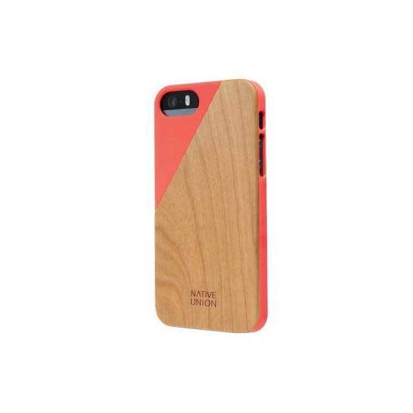 Native Union  Clic Wooden for iPhone 5/5s/SE 木目ウッドケース Coral|CLIC-COR-WD-5-5SV3