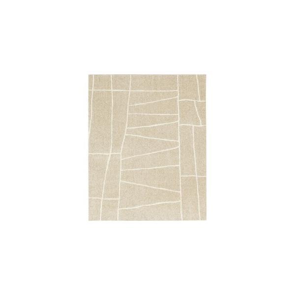 ラグマットカーペット長方形ホットカーペット対応日本製『ジオーニ』ベージュ190×240cm