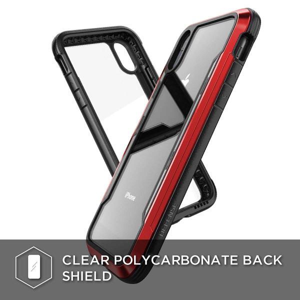 X-Doria iPhone XR (2018) ケース DEFENSE SHIELD シリーズ 米軍MIL規格取得 MIL-STD-810G 衝撃吸収 スリム ハイブリッド アルミニウム × TPU × ポリカーボネ|itempost|03