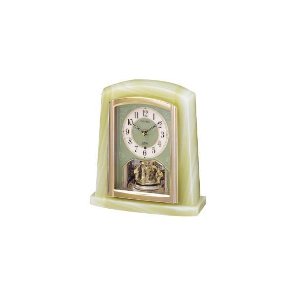 セイコー オニキス電波置時計 BY223M